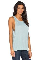 Stateside Royal Supima Jersey Light Scoop Neck Tank Mint