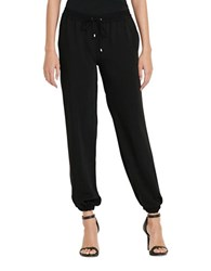 Lauren Ralph Lauren Solid Drawstring Jogger Pants Polo Black