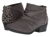 Blowfish Stood Up Grey Leopard Pull On Boots Gray