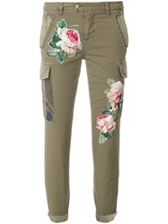 Mason Floral Embroidered Jeans Green