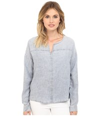 Mavi Jeans Long Sleeve Blouse Light Indigo Women's Blouse Blue