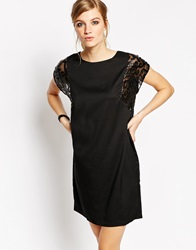 B.Young Shift Dress With Detailed Sleeves Black