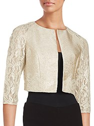 Kay Unger Cropped Lace Jacket Cream