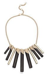 Women's Alexis Bittar 'Lucite Metal' Tapered Bib Necklace