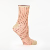 Becksondergaard Dina Small Dot Socks Pink Yarrow