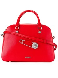 Versus Oversized Pin Detail Tote Red