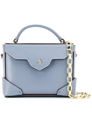 Manu Atelier Top Handle Mini Bag Blue