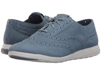Cole Haan Grand Tour Oxford Cornwall Blue Suede Optic White Women's Lace Up Casual Shoes