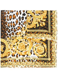 Versace Printed Neck Scarf Yellow And Orange