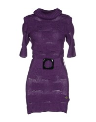 Fracomina Dresses Short Dresses Women Purple