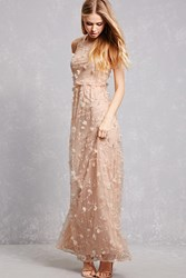 Forever 21 Cherry Blossom Chiffon Gown