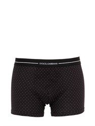 Dolce And Gabbana Micro Polka Dot Jersey Boxer Briefs