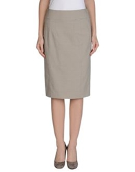 Burberry London Knee Length Skirts Grey