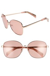 Draper James 61Mm Square Sunglasses Rose Gold