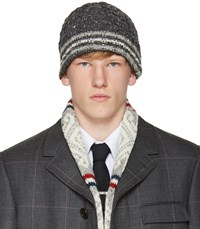 Thom Browne Grey Cable Funmix Beanie