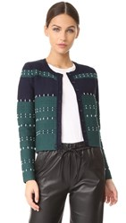 Yigal Azrouel Long Sleeve Cardigan Forest Multi