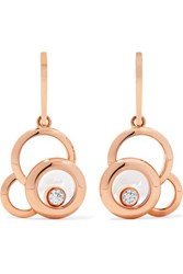 Chopard Happy Dreams 18 Karat Rose Gold Diamond Earrings