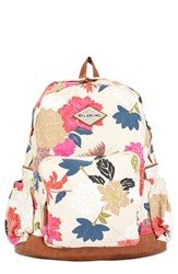 Billabong Home Abroad Floral Print Backpack Ivory Cream