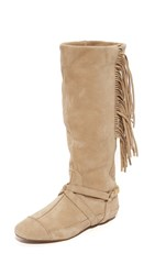 Jerome Dreyfuss Arizona Fringe Boots Beige