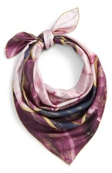 Ted Baker London Balmoral Marble Square Silk Scarf Deep Purple