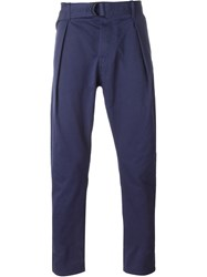 Andrea Pompilio Pleated Chino Trousers Blue
