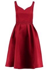 Chi Chi London Mischa Cocktail Dress Party Dress Burgundy Dark Red