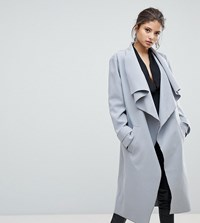 Missguided Waterfall Duster Coat Grey
