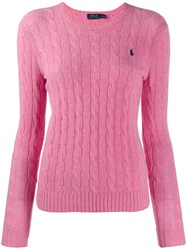 Polo Ralph Lauren Cable Knit Long Sleeve Jumper Pink
