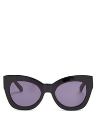 309693ef2ecf Karen Walker Northern Lights Cat Eye Acetate Sunglasses Black