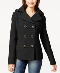 American Rag Double Breasted Hooded Peacoat Only At Macy's Classic Black