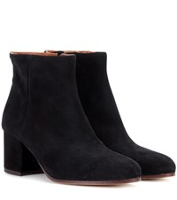 Common Projects Suede Zip Ankle Boots Black