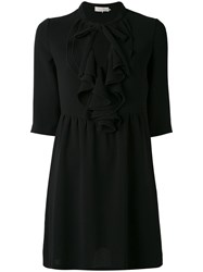 L'autre Chose Pleated Collar Dress Women Polyester 38 Black