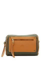 Timberland Leather And Canvas Travel Kit Green