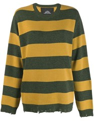 Marc Jacobs Striped Jumper Green