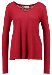 American Vintage Long Sleeved Top Bordeux Dark Red