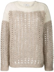 Closed Chunky Knit Jumper Brown