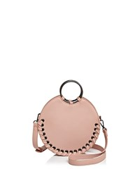 Street Level Whipstitch Circle Crossbody Blush Gunmetal