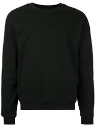 Rta Zip Detail Sweatshirt Black
