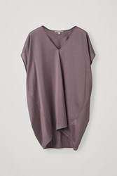 Cos Cocoon V Neck T Purple