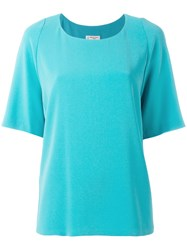 Alberto Biani Plain T Shirt Blue