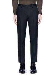 Wooyoungmi Piped Waist Wool Pants Black