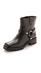 Michael Kors Collection Macey Flat Short Boots Black