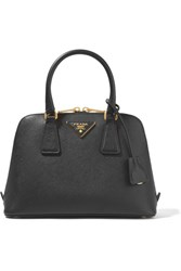 Prada Promenade Textured Leather Tote Black