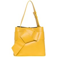 French Connection Savannah Bow Front Bucket Bag Mustard