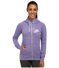 Nike Gym Vintage Full Zip Hoodie Washed Purple Sail Women's Sweatshirt