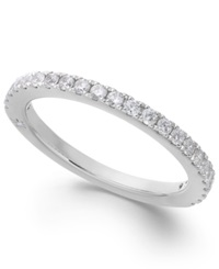 Diamond Band By Marchesa Certified In 18K White Gold 3 8 Ct. T.W.