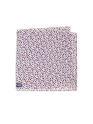 Vilebrequin Coral Print Silk Pocket Square Light Purple