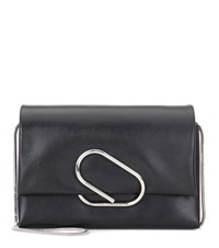 3.1 Phillip Lim Alix Soft Flap Leather Shoulder Bag Black