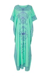 Chantik Long Embroidered Kaftan Green