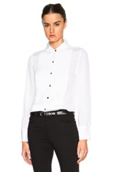 Frame Denim Tuxedo Top In White